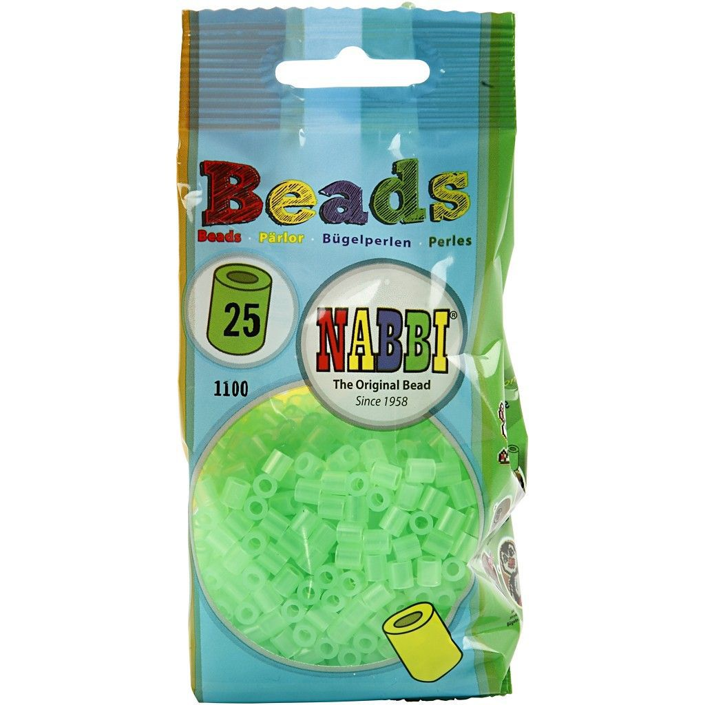 Perles à Repasser Vert Pale Transparent n°25