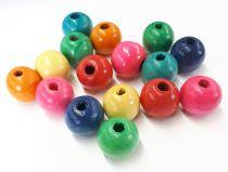 Perles en bois multicolore Ø 20 mm x50