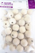 Perles en bois naturel Ø 20 mm x50