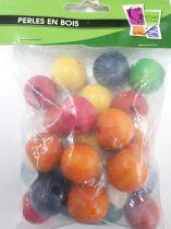 Perles en bois naturel Ø 25 mm x25
