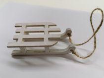 Petite luge blanche de noël 9cm x 4 cm
