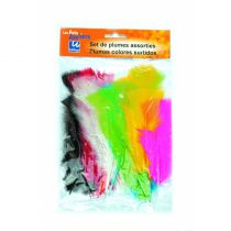 Plumes couleurs assorties x35 - les petits ateliers