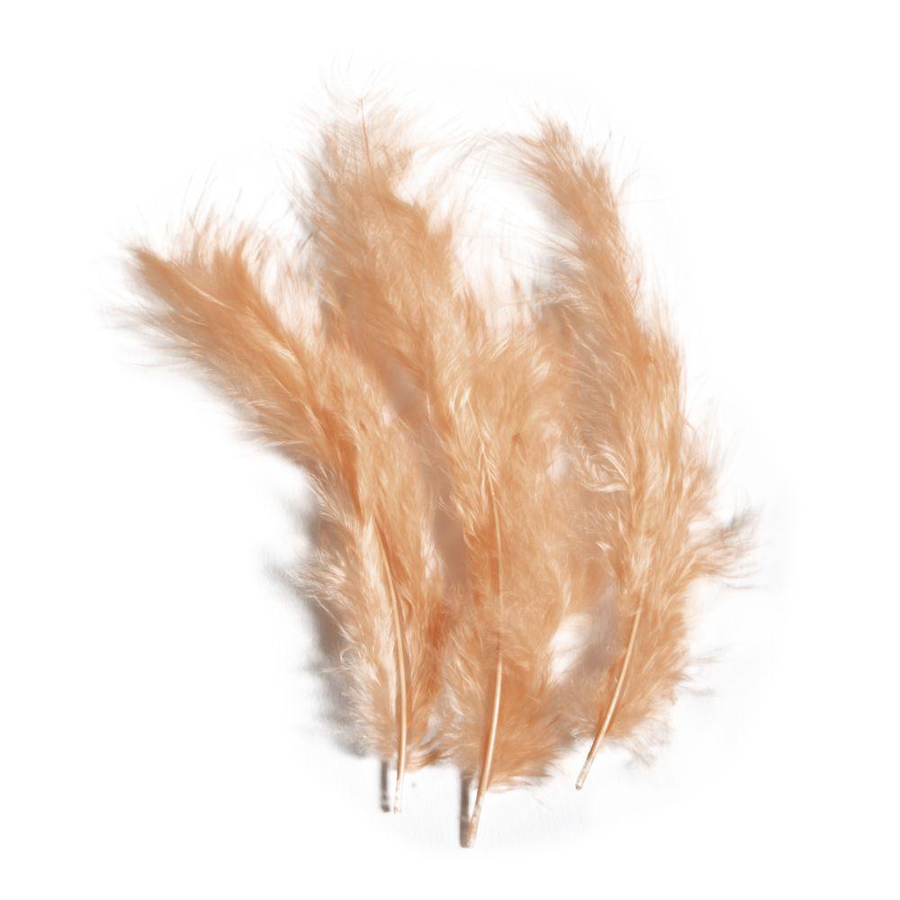 Plumes duvetées - Abricot - 10-15cm 15 pièces