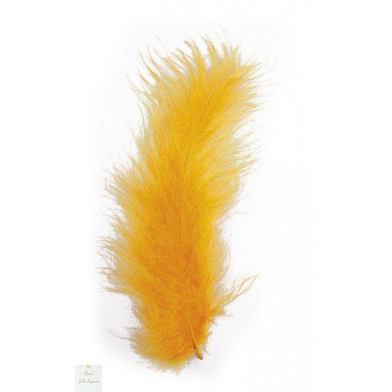 Plumes duvetées - Orange - 10-15cm 15 pièces