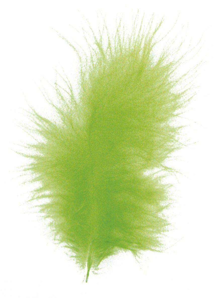 Plumes duvetées - Vert clair - 10-15cm 15 pièces