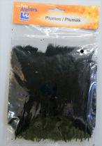 Plumes noir x35 -env 15cm - les petits ateliers