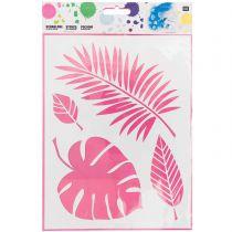 Pochoir 4 feuilles 24.5x18.5 cm Rico