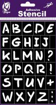 Pochoir adhésif alphabet 18x12 cm