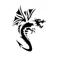 Pochoir adhésif dragon 7x10 cm