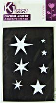 Pochoir adhésif étoiles 7x10 cm