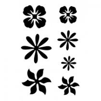 Pochoir adhésif fleurs 7x10 cm
