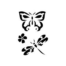 Pochoir adhésif papillon / libellule 7x10 cm