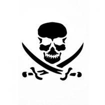 Pochoir adhésif pirate 7x10 cm