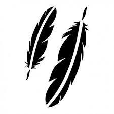 Pochoir adhésif plumes 7x10 cm
