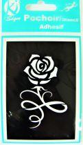 Pochoir adhésif rose 7x10 cm
