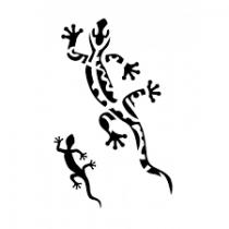 Pochoir adhésif salamandre 7x10 cm