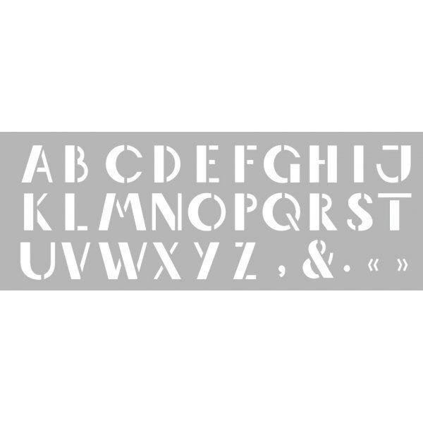 Pochoir Alphabet 15 x 40 cm Graine Créative
