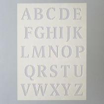 Pochoir alphabet majuscule 14 x 21 cm Efco