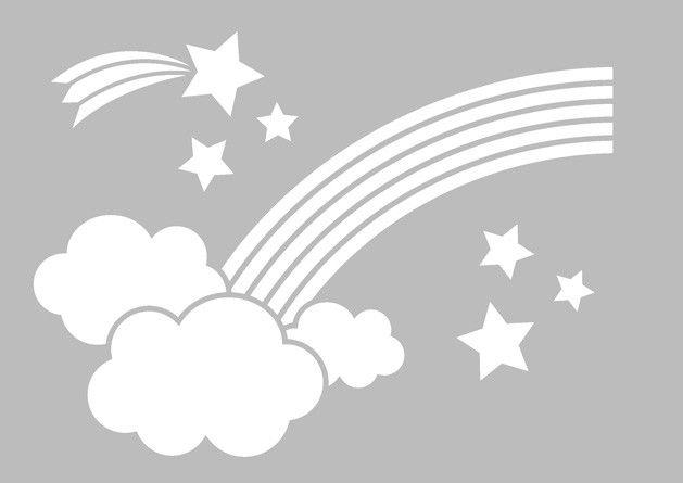 Pochoir Arc en Ciel 21x29.7 cm Artémio