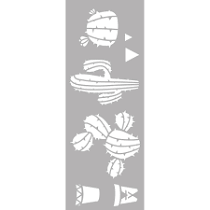 Pochoir Cactus 15 x 40 cm Graine Créative