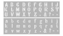 Pochoir Décor Alphabet Majuscule et Minuscule 15 x 40 cm Graine Créative