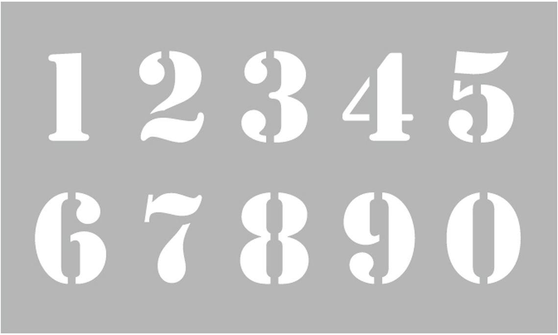 Pochoir Décor Chiffres 12 x 20 cm Graine Créative