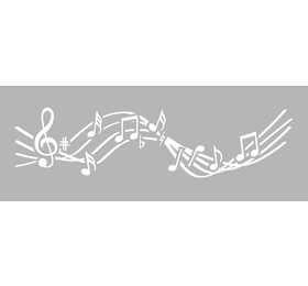 Pochoir Décor Musique 15 x 40 cm Graine Créative