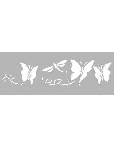 Pochoir Décor Papillons 15 x 40 cm Graine Créative