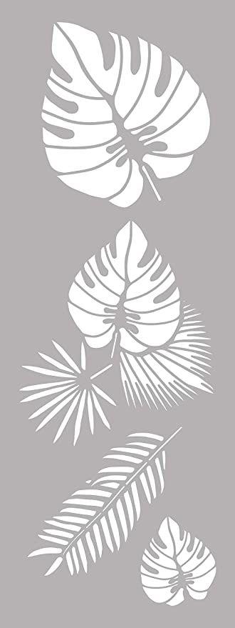 Pochoir Décor Tropical 15 x 40 cm Graine Créative