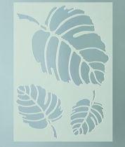Pochoir feuilles 15x21 cm Efco