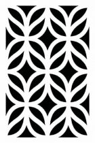 Pochoir Feuilles géometriques 10x15 cm Artémio