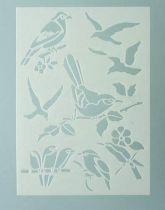 Pochoir Oiseaux de forêt 15x21 cm Efco