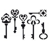 Pochoir petites clés 10x15 cm Artémio