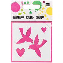 Pochoir Petits Oiseaux 7.5x7.5cm