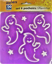 Pochoirs plastique lavable x6 monstre