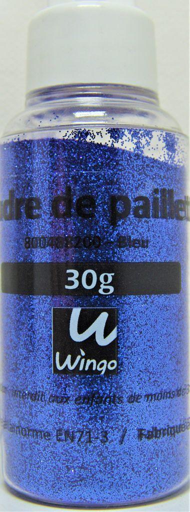 Poudre de paillettes bleu 30 grs x1