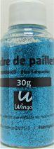 Poudre de paillettes bleu turquoise 30 grs x1