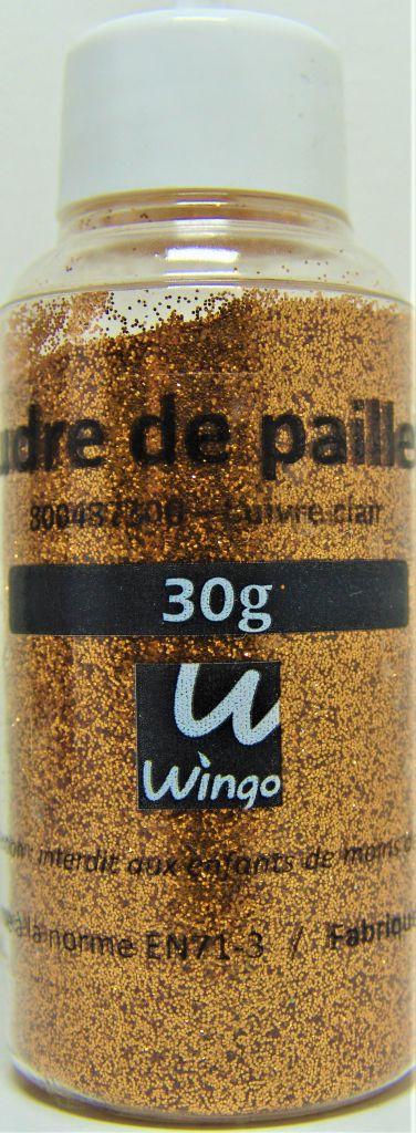 Poudre de paillettes cuivre clair 30 grs x1