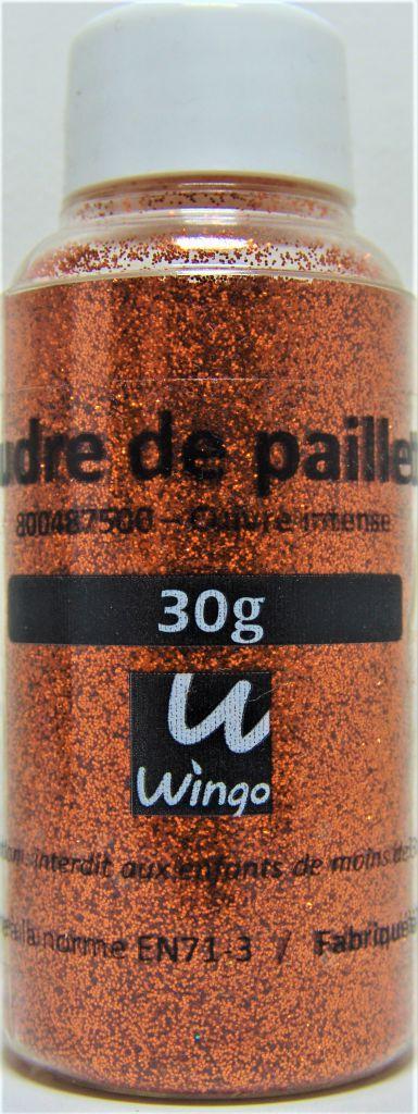 Poudre de paillettes cuivre intense 30 grs x1