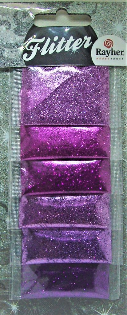 Poudre de paillettes dégradé de rose/violet/parme