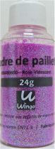 Poudre de paillettes iridescente rose 24 grs x1