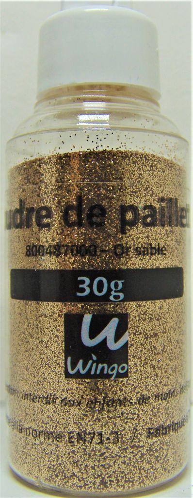 Poudre de paillettes or sable 30 grs x1