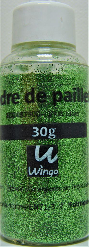 Poudre de paillettes vert olive 30 grs x1