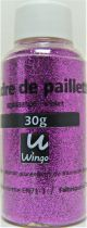 Poudre de paillettes violet 30 grs x1