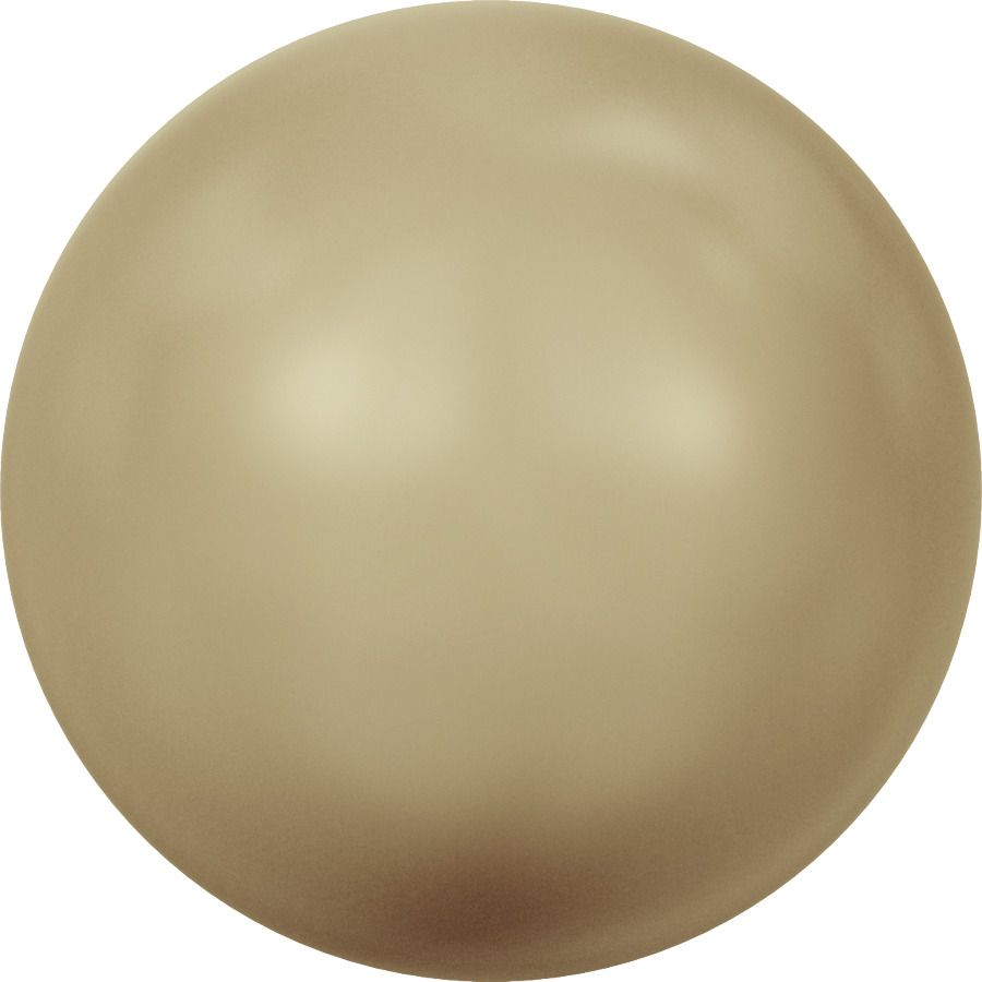 Ronde nacrée 5810 10mm Crystal Vintage Gold Pearl x1 Swarovski