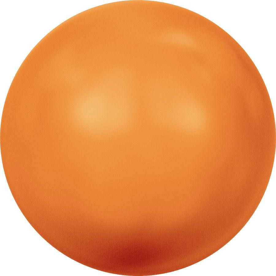 Ronde nacrée 5810 4mm Crystal Neon Orange Pearl x20 Swarovski