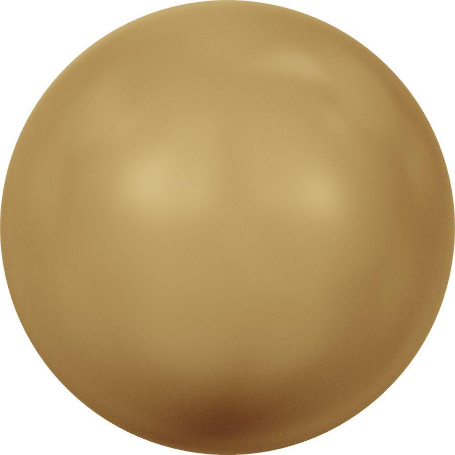 Ronde nacrée 5810 6mm Crystal Bright Gold Pearl x10 Swarovski