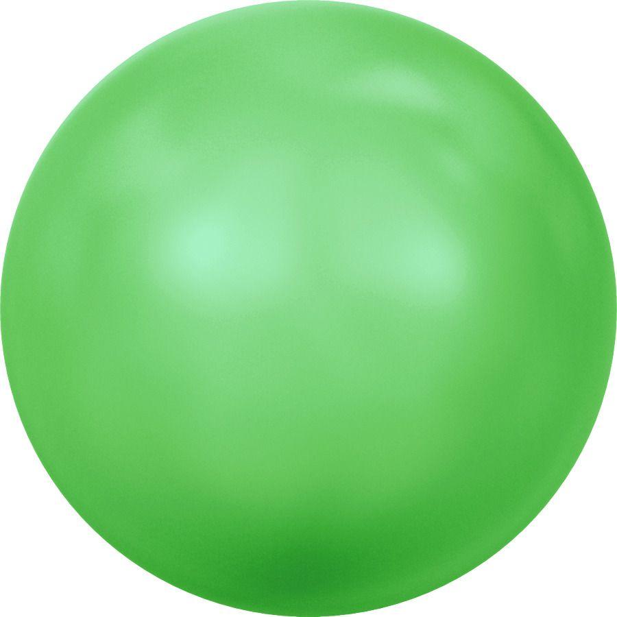 Ronde nacrée 5810 8mm Crystal Neon Green Pearl x5 Swarovski