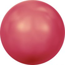 Ronde nacrée 5810 8mm Crystal Neon Red Pearl x5 Swarovski