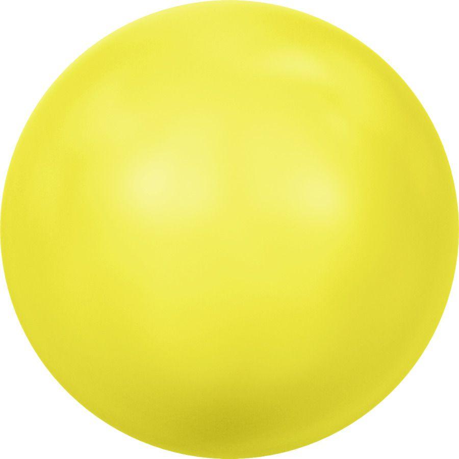 Ronde nacrée 5810 8mm Crystal Neon Yellow Pearl x5 Swarovski